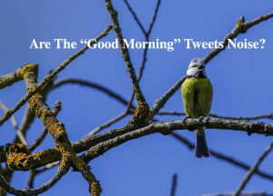 Are Good Morning Tweets Noise?